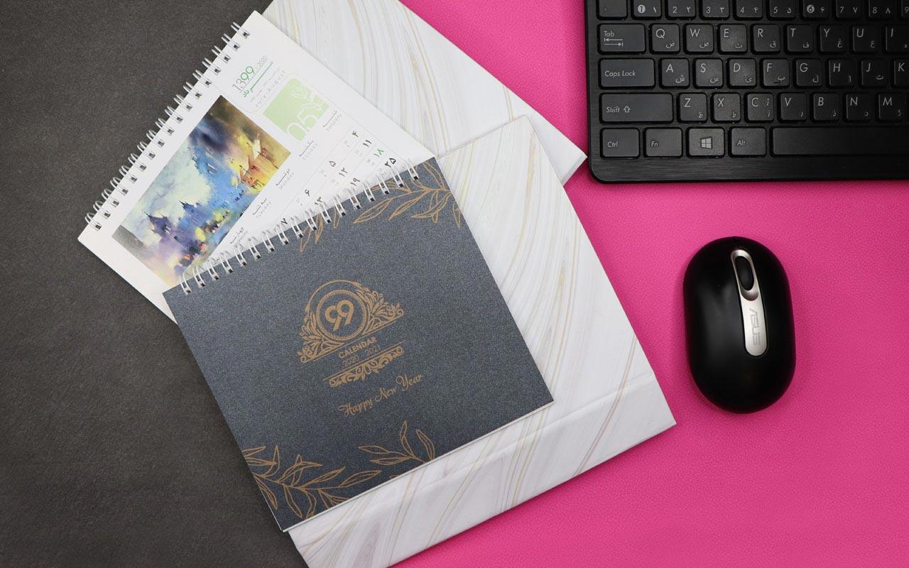 تقویم رومیزی خشتی طرح گلدان مدل G900